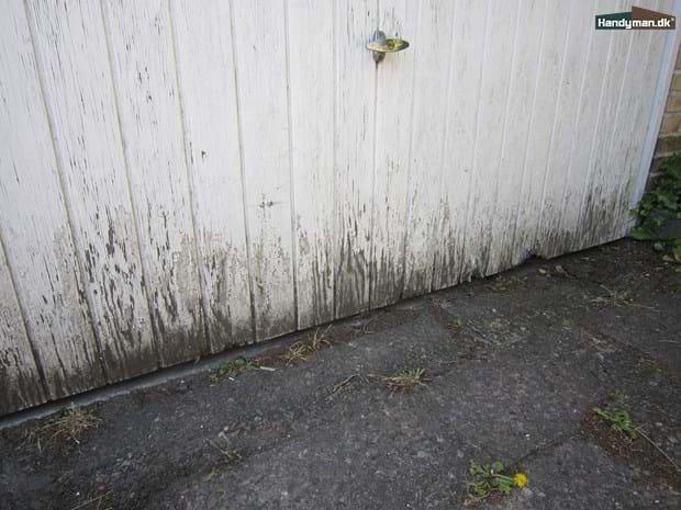 Sidste nye Reparation af rådden garageport   Udskiftning af råddent træ / træværk WE-23