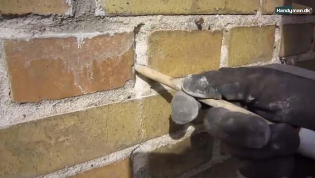 Ultra Udkrads det løse mørtelfuge | Reparation af husets fuger OY82