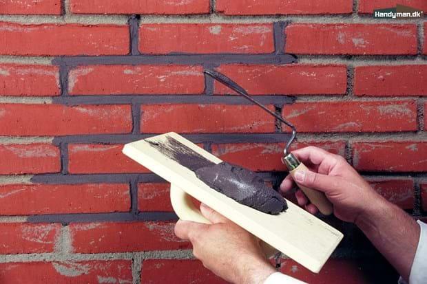 Avanceret Fyld fugerne med mørtel | Filtse mur - sådan gør du DU66