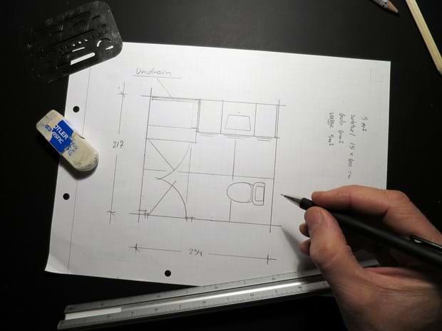 badeværelse plantegning Lav en god tegning | Nyt badeværelse. Sådan sparer du kr. 100.000,  badeværelse plantegning