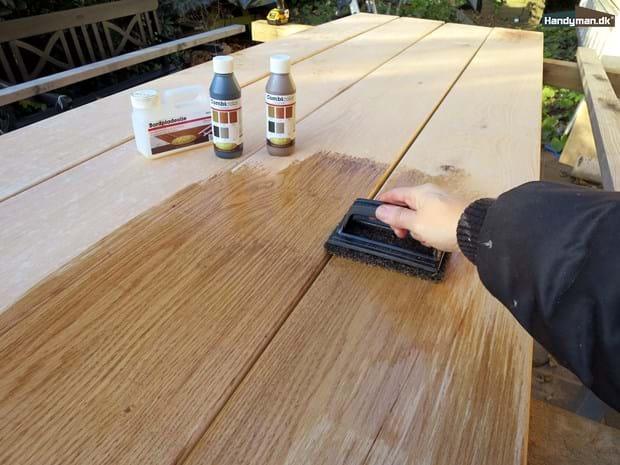 Fantastisk Oliebehandling af træbordplader og plankeborde | Oliebehandling af RU35