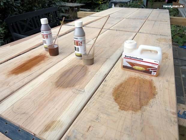 Udestående Farvning af træ olie | Oliebehandling af massive træbordplader OB73
